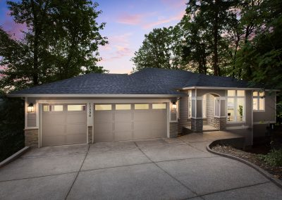 exterior of new home in lake oswego