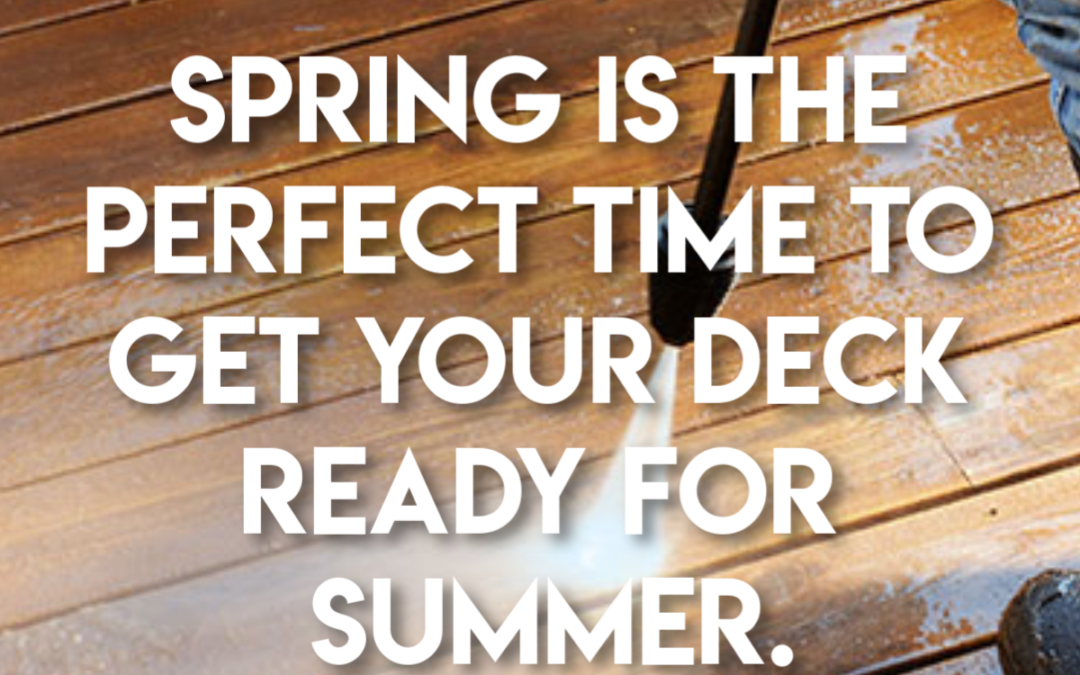 Spring Deck Dos: Wash Your Deck